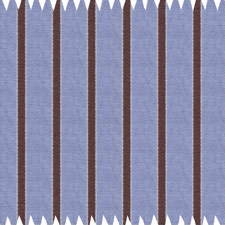 Lt. Blue/Brown Striped Egyptian Cotton Shirt With Neck Tie