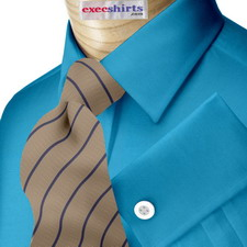 Aqua Broadcloth Dress Shirt