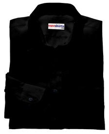 Black Linen Shirt With Neck Tie