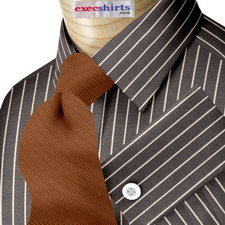 Custom Black Pinstripe Dress Shirt