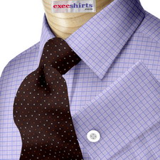 Blue Checked Weave Dress Shirts 2