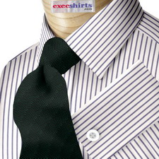 Blue Pinstripe Dress Shirt With Neck Tie