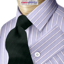 Custom Blue Egyptian Cotton Striped Dress Shirt