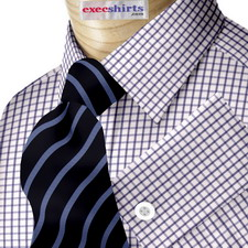 Checked Blue Dress Shirt 2