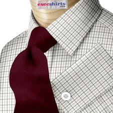 Black/Grey Checked Dress Shirt