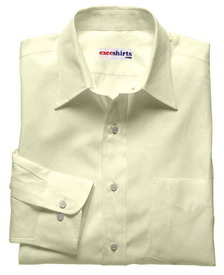 Cream Deluxe Linen Shirt With Neck Tie