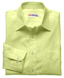 Cream-Yellow Linen Shirt With Neck Tie