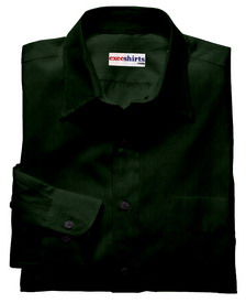 Dark Green Linen Shirt With Neck Tie