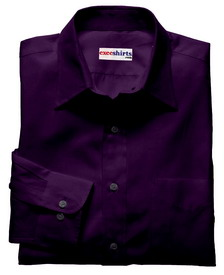 Dark Purple Linen Shirt With Neck Tie