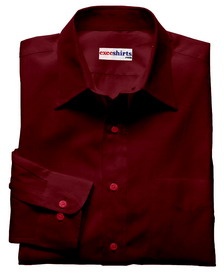Dark Red Linen Shirt With Neck Tie