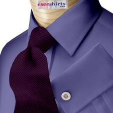 French Blue Broadcloth 2 Dress Shirt With Neck Tie