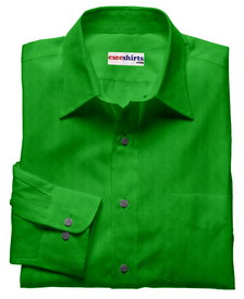 Green Linen Shirt With Neck Tie