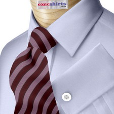 Lt. Blue Broadcloth Dress Shirt With Neck Tie