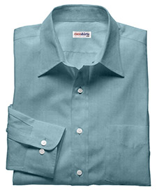 Lt. Blue Deluxe Linen Shirt With Neck Tie