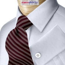 Lt. Blue Egyptian Cotton Pinpoint Dress Shirt With Neck Tie