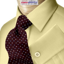 Lt. Brown Broadcloth Dress Shirt