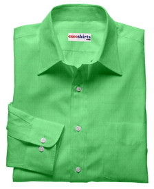 Lt. Green Linen Shirt With Neck Tie