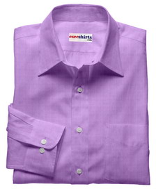 Lt. Purple Linen Shirt With Neck Tie
