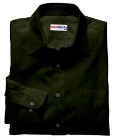 Olive Green Deluxe Linen Shirt With Neck Tie
