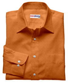 Orange Brown Linen Shirt With Neck Tie