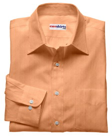 Orange Linen Shirt With Neck Tie