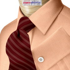Orange Oxford Dress Shirts With Neck Tie