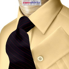 Peach Broadcloth Dress Shirt With Neck Tie