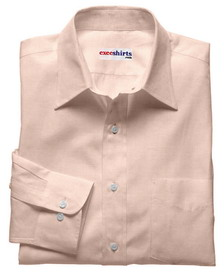 Pink Deluxe Linen Shirt With Neck Tie
