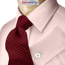 Pink Egyptian Cotton Pinpoint Dress Shirt With Neck Tie