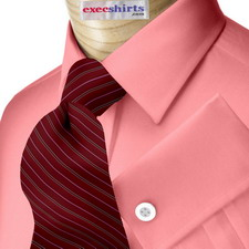Pink Oxford Dress Shirt With Neck Tie