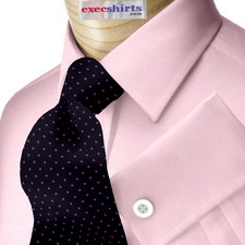 Pink Pinpoint Dress Shirt With Neck Tie