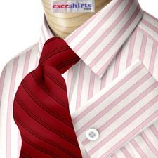 Custom Pink Egyptian Cotton Striped Dress Shirt