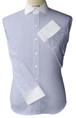 Custom White Quarter Spread Collar Pinpoint Dress Shirts