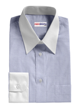 Custom White Traditional Collar Pinpoint Dress Shirts