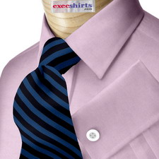 Purple Egyptian Cotton Pinpoint Dress Shirt With Neck Tie