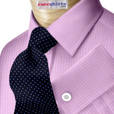 Purple Herringbone Dress Shirt With Neck Tie