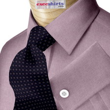 Purple Oxford Dress Shirt With Neck Tie