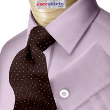 Custom Purple Pinpoint Dress Shirt