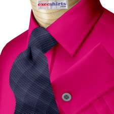 Purple-Red Broadcloth Dress Shirt With Neck Tie