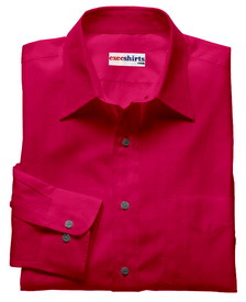 Purple-Red Linen Shirt With Neck Tie