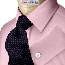 Red Egyptian Cotton Pinpoint Dress Shirt With Neck Tie