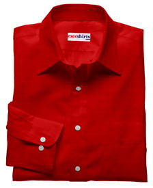 Red Linen Shirt With Neck Tie