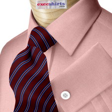 Red Pinpoint Dress Shirt With Neck Tie