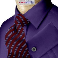 Royal Blue Broadcloth Dress Shirt With Neck Tie