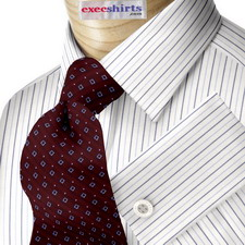Blue/Lt. Blue Striped Dress Shirt 3 With Neck Tie