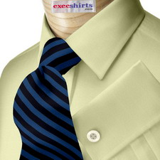 Tan Broadcloth Dress Shirt With Neck Tie