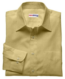 Deluxe Tan Linen Shirt With Neck Tie