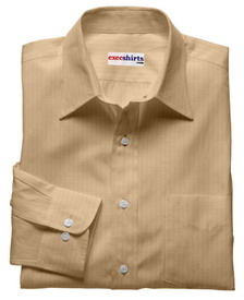 Tan Linen Shirt With Neck Tie