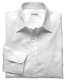 White Deluxe Linen Shirt With Neck Tie