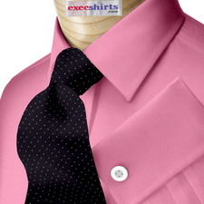 Wine Broadcloth Dress Shirt With Neck Tie